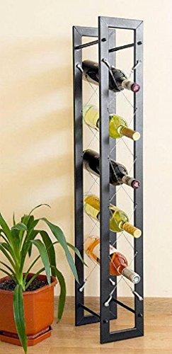 DanDiBo Designer Weinregal Pit 100 cm aus Metall Flaschenständer Flaschenhalter Bar
