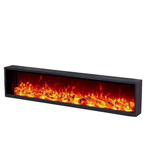 NINAINAI Home Electric Fireplace Pared led Duradera montada o incorporada en Efecto...