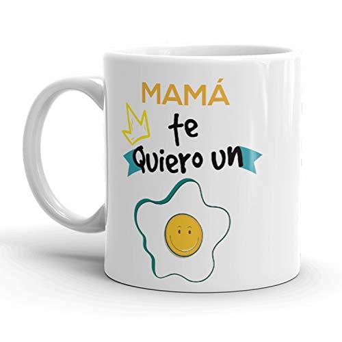 Kembilove. Taza de Café para Mamá con Frases Graciosas Mamá Te Quiero un Huevo – Taza de Desayuno para Regalar el día del Madre – Tazas de Café para Madres y Abuelas
