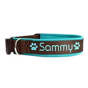Hund&Hals – Halsband 1.0 – Handmade Hundehalsband aus Gurtband mit Neopren mit Namen individuell personalisiert, große…