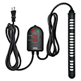 Submersible Aquarium Heater 500W Fish Tank Heater with Dual Temperature Displays and Temp Controller Adjustable for Turtle Betta Fish Tank 80-130 Gallon