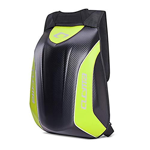Motorrad Hartschalen Rucksack Bagtecs Carbon 30L neon gelb