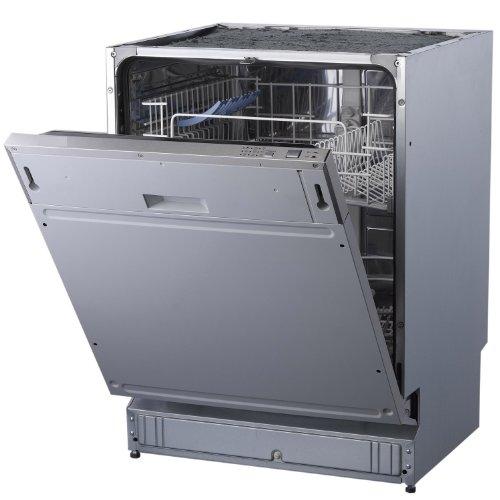 PKM DW12-6FI vollintegrierbarer Geschirrspüler/A+ / 289 kWh/Jahr / 3080 Liter/Jahr / 12 MGD / 49 db/Aqua-Stop-Schlauch/Überlaufschutz/edelstahl