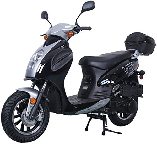 X-Pro 150cc Moped Scooter Motorcycle Scooter 150 Adult Scooter Gas Moped Scooter (Black)