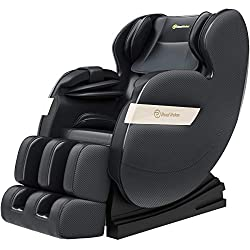 Real Relax Massage Chair Recliner, Electric Zero Gravity Full Body Shiatsu Stretched Massaging Chair with Heat