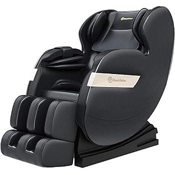Real Relax Massage Chair Full Body Zero Gravity Shiatsu Massage Recliner with Bluetooth Heat Foot Roller FAVOR-03 Plus Black