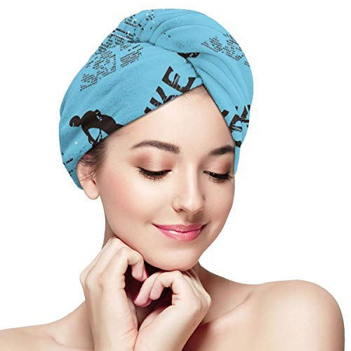 Bettiboy Bike Fest Motorcycle Competition Microfiber Hair Towel Wrap for Women Super Absorbent Quick Dry Hair Turban for Drying Curly Spa Towel 11¡± X 28¡±