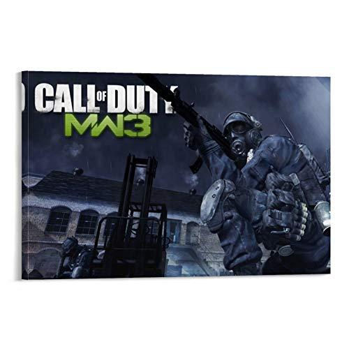XIAOTT Póster de videojuegos de Call of Duty Modern Warfare 7 sobre lienzo y arte de pared, impresión moderna para decoración de dormitorio familiar, 50 x 75 cm