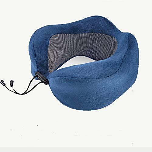 PangTuZiYin Almohada de Viaje en Forma de U en el Coche, Almohada de Espuma viscoelástica para el Cuello, cómoda Almohada para el Cuello, Pliegues para Dormir, Almohadas para el Cuello de avión