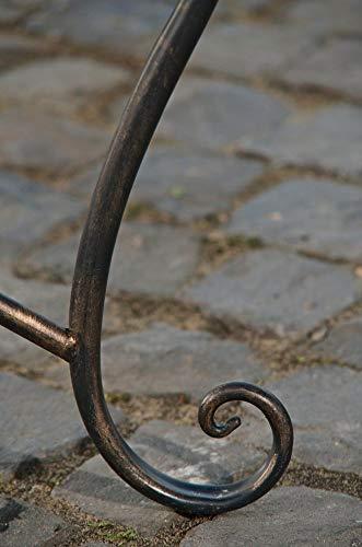 CLP Gartenbank TARA, Landhaus-Stil, Eisen lackiert, Design antik,113 x 47 cm, bis zu 5 Farben wählbar Bronze - 5