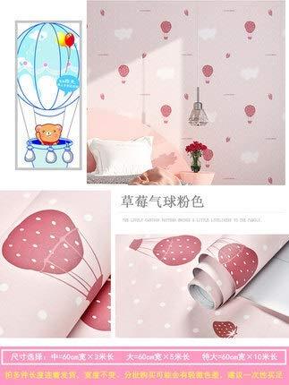 SMXGF Wallpaper zelfklevende slaapkamer meisje waterdicht warm roze behang slaapzaal muurstickers decoratief desktop meubels (Color : Pink balloon 3, Dimensions : 3mx60cm)