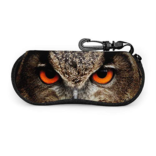 Estuche de gafas Bird Eyes Eagle Owl Ver Animales Estuche de gafas de sol Estuche de anteojos con cremallera portátil ultraligero Estuche de neopreno versátil personalizado