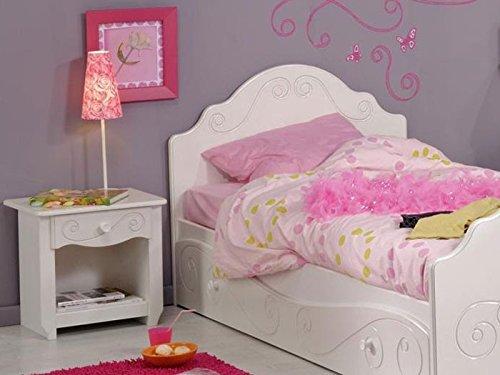 Kinderbett Anne 3, 90x200cm, weiß lackiert, mit Nachttisch und Bettkasten, Kinderzimmer - 3