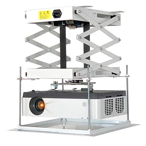CGOLDENWALL Electric Projector Lift 30cm/ 11.8inch Ultra-thin Hidden Motorized Projector Mount Hanger with Remote Control For House Cinema Church Hall School Running Distance: 70cm/ 27.6 inches