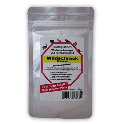 NEUHEIT! Original WILDSCHRECK Granulat Wildvergrämungsmittel HOCHWIRKSAM und genial NEUHEIT!