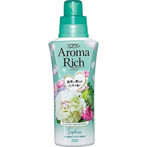 ソフラン アロマリッチ 柔軟剤 ソフィア (ピュアフローラルアロマの香り) 本体 550ml