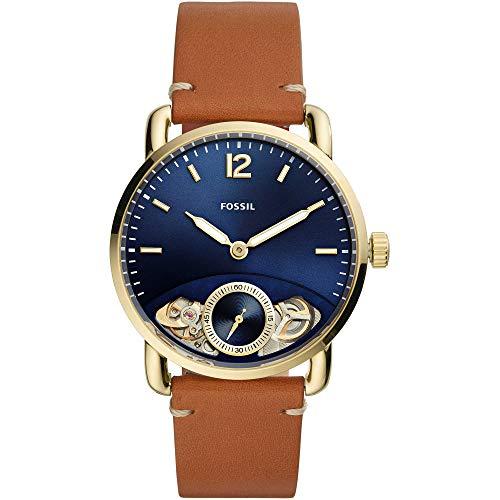 Fossil Herren Analog Quarz Uhr mit Leder Armband ME1167