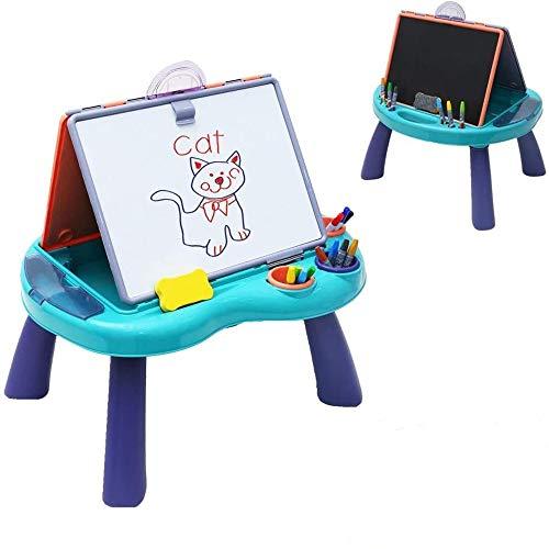 Arkmiido Caballete de para Niños Pizarras Magnética Infantil 3 en 1 Doble Cara con Pizarra y Pizarra magnética Juguetes educativos para 2 3 4 5 años niños y niñas para la Escuela, guardería, hogar
