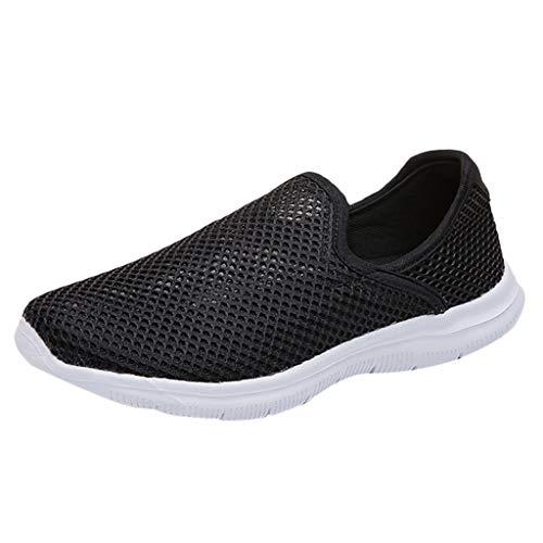 Saihui Sportschuhe Damen Sneaker Bequem Gym Leichte Schuhe Fitness Atmungsaktives Mesh Turnschuhe Turnschuhe Outdoors Straßenlaufschuhe (EU:35, Schwarz)