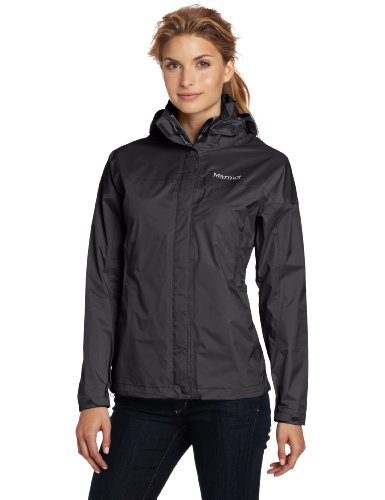 Marmot Women's PreCip Lightweight Waterproof Rain Jacket, Black, X-Small