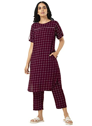 Indya Women's Set (ICO00012_Maroon_X-Large)