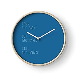 Fsgawards Lyrics Lorde Melodrama Louvre Music Wall Clock Excellent Accurate Sweep Movement Glass Cover, Decorative for Kitchen, Living Room, Bathroom, Bedroom, Office