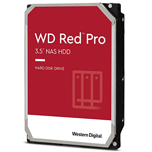 Western Digital 4TB WD Red Pro NAS Internal Hard Drive HDD - 7200 RPM, SATA 6 Gb/s, CMR, 256 MB Cache, 3.5' - WD4003FFBX
