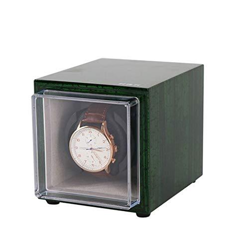 Caja de reloj Enrollador De Reloj Automático, Caja A Prueba De Polvo Con Enrollador De Reloj Con Motor Silencioso, Vitrina De Almacenamiento Rocker Para 1 Reloj Individual Como un regalo ( Color : C )