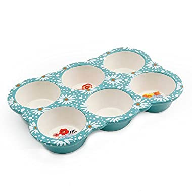 The Pioneer Woman Flea Market 10.5 Ceramic Muffin Pan (1)