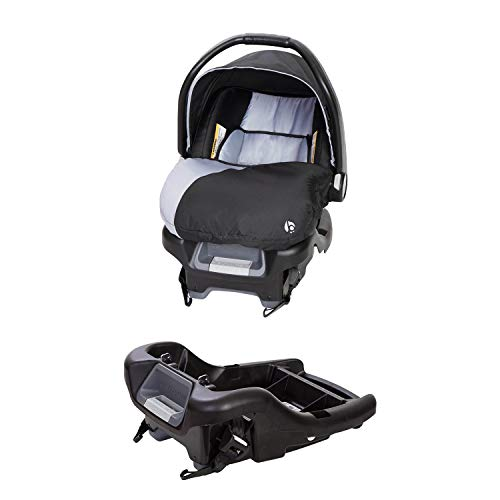 Baby Trend Ally Adjustable 35 Pound Infant Baby Car Seat and Ally 35 Versatile Ultra Safe 4 Position Infant Car Seat Base, Stormy