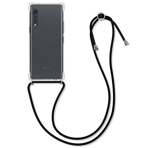 kwmobile Necklace Hülle kompatibel mit LG Velvet - Hülle Silikon mit Handykette - Band Handyhülle Transparent