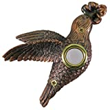 Waterwood Bronze Plated Hummingbird Doorbell - Wired & Illuminated Push Button Cast in Durable Polyresin