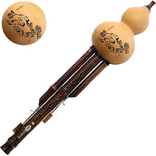 Prioriteit Cultuur Hulusi,Gourd Flute,Cucurbit Flute Traditionele Handgemaakte Cucurbit Flute Fluit Professionele Spelen Fluit Harmonica Fluit In Opname Studio Prachtige Bloemenpatroon