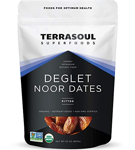 Terrasoul Superfoods Organic Deglet Dates, 2 Lbs - Pitted | Fresh | Natural Sweetener