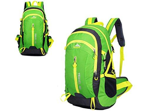 Nouveau voyage sac à dos Sacs bandoulière plein air sacs 40L alpinisme imperméable à l'eau , green