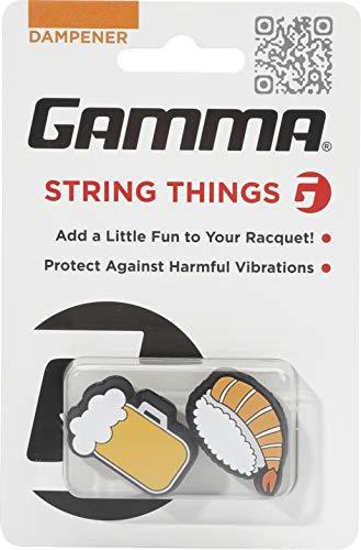Gamma String Things Bier, Shrimp Sushi Dämpfer Im Doppelpack-Orange, Weiß, Accessorio per Racchetta Unisex-Adulto, Multicolore