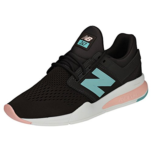 New Balance Damen Americano Grau/Himalayan Rosa 247 Sport Sneakers-UK 3