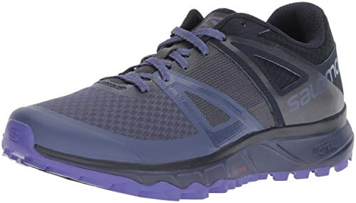 Salomon Women's Trailster Trail Running Shoes, Crown Blue/Navy Blazer/Purple Opulence, 8.5
