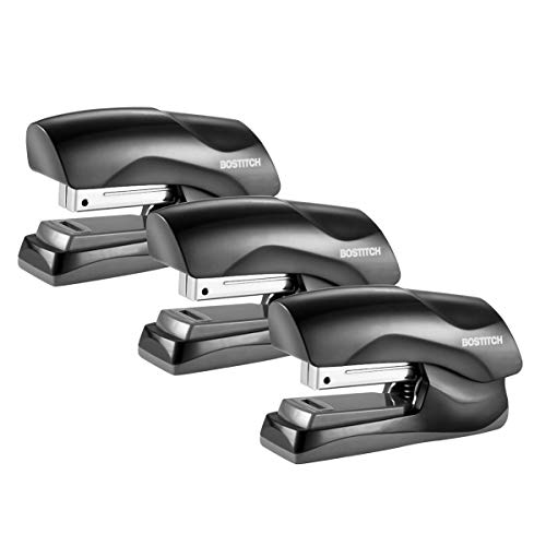 Bostitch Office Heavy Duty 40 Sheet Stapler, Small Stapler Size, Fits into The Palm of Your Hand; 3-Pack (B175-BLK-3PK), Black 3-Pack