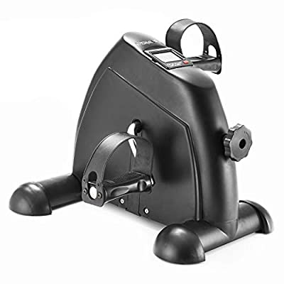 Portable Home Exercise Bike Pedal Exerciser Foot Peddler Portable Therapy Bicycle Leg Peddler Portable Mini Cycle Bike for Hands Arm or Feet Trainer Mini Exercise Bike with Digit Black