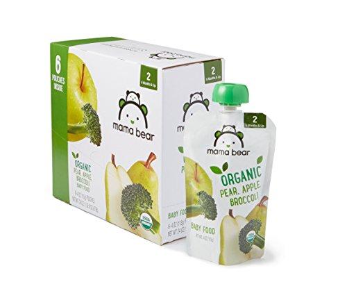 Amazon Brand - Mama Bear Organic Baby Food, Stage 2, Pear Apple...