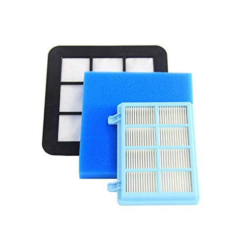 SHEAWA Filtre allergique en mousse de rechange pour aspirateur Philips PowerPro Compact FC9331/09FC9332/09 FC8010/01