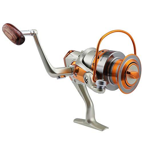 Coolty Carretes giratorios de pesca, 12 rodamientos de bolas, izquierda y derecha, intercambiables, de alta velocidad, ultraligero, suave, potente carrete giratorio de metal