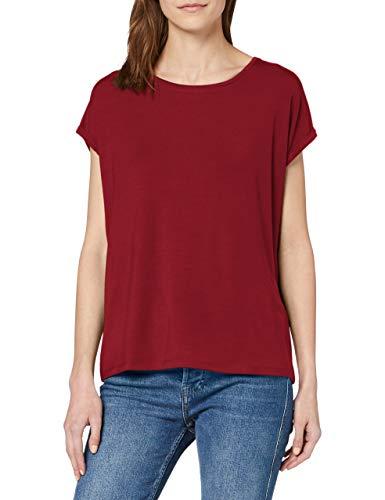 VERO MODA Womens VMAVA Plain SS TOP GA NOOS Shirt, Tibetan Red, XS