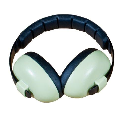 BANZ BABY BUBZEE EARMUFFS, casques oreillères de protection acoustique pour enfants de 0 à 2 ans. (Feuille verte)