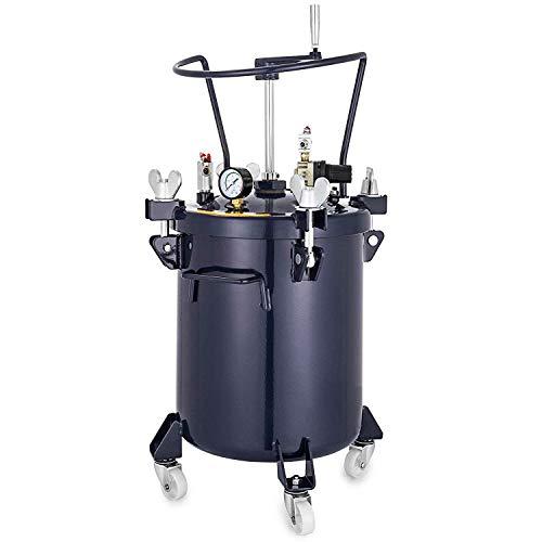 BananaB 40L Paint bucket Spray Paint Pressure Pot Tank 90PSI Professionelle Sprühfarbe Sprayer mit automatischem Luftmischrührer/manueller tragbarer Farbbehälter-Farbspritzgerät Hochdruckdüse
