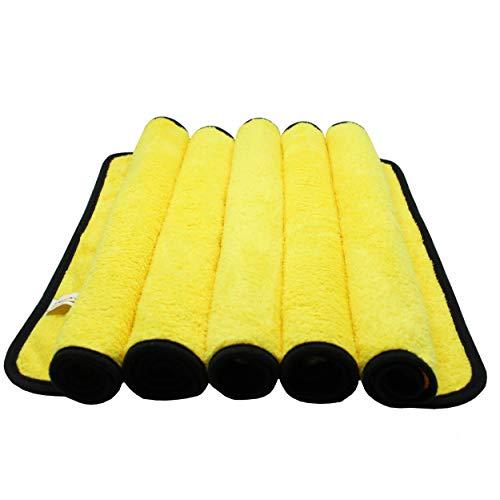 DUNLOP 5 paños de microfibra para el cuidado profesional del coche, cuidadosos con la pintura, microfibra suave, limpieza efectiva, paños de pulido, 40 x 40 cm