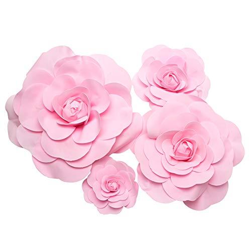 Simply Elegant Rose Foam Wall Decor – 1 Count (Pink) Silk Flower Arrangements