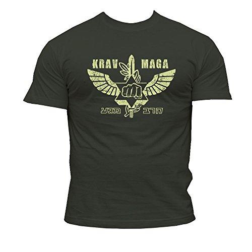 Dirty Ray Arts Martiaux MMA Krav Maga t-Shirt Homme K49 (M)