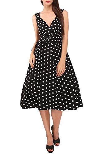 Damen Kleid 40er 50er Jahre Swing Vintage Rockabilly Damen Retro Prom Party Plus Size Kleider